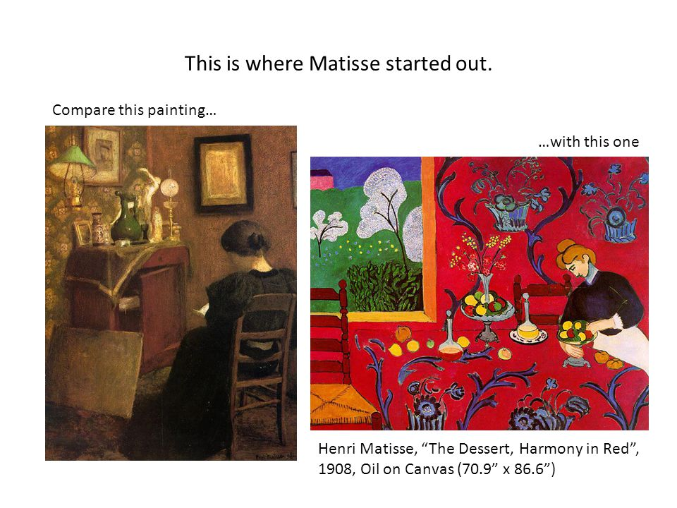 This is where Matisse started out.