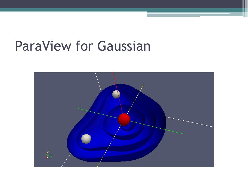 ParaView for Gaussian