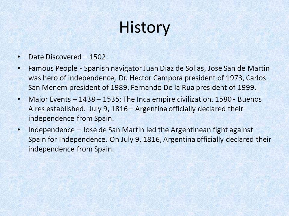 History Date Discovered – 1502.