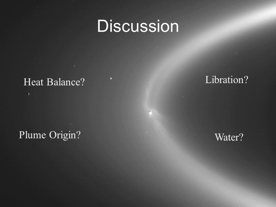 Discussion Heat Balance Plume Origin Libration Water