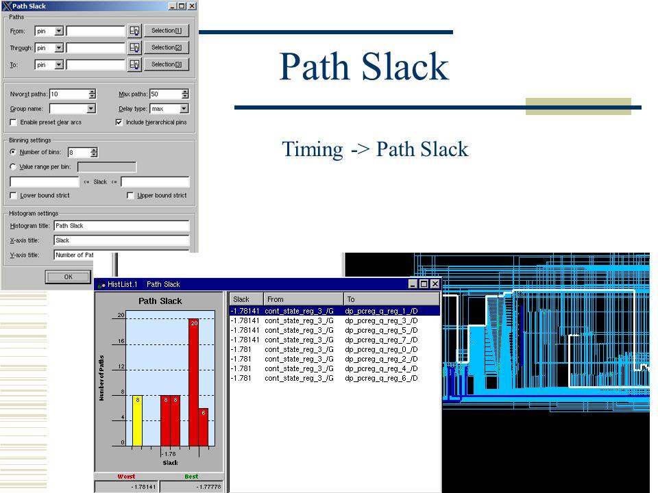 Path Slack Timing -> Path Slack