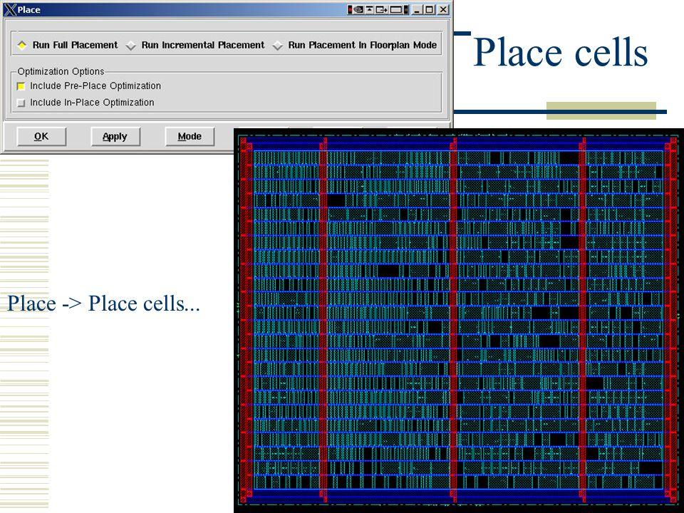 Place cells Place -> Place cells...