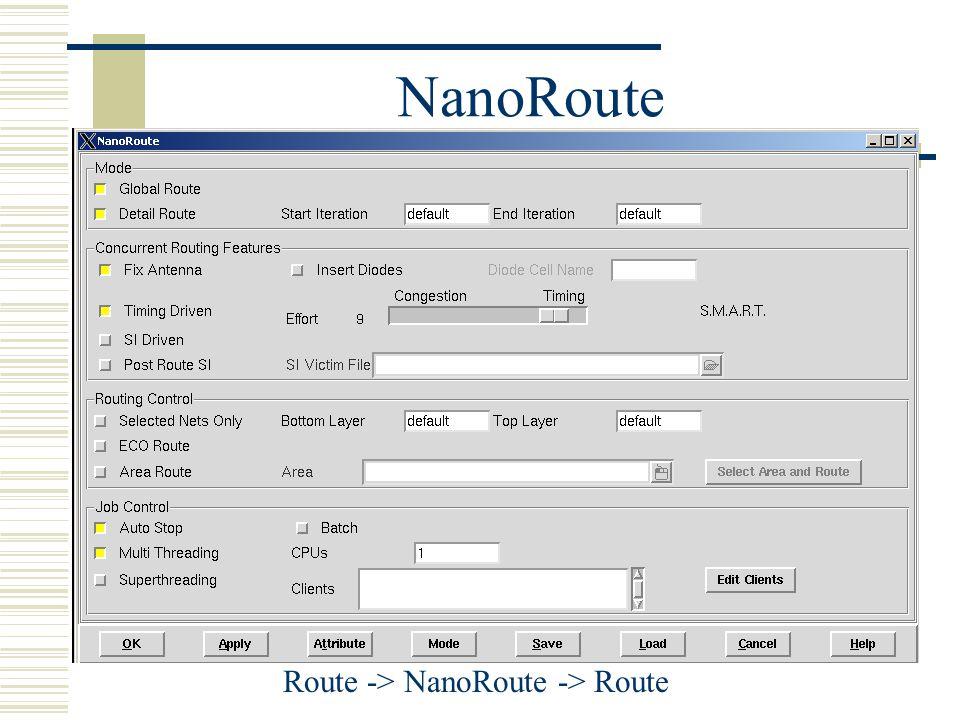 NanoRoute Route -> NanoRoute -> Route