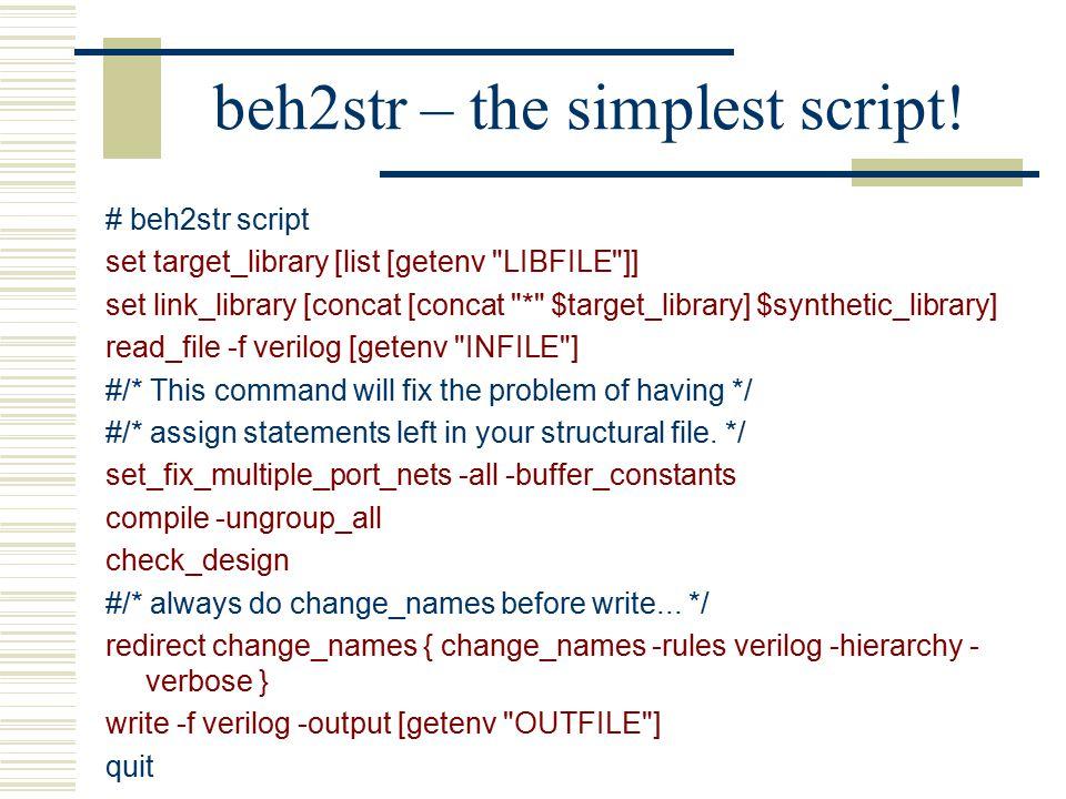 beh2str – the simplest script.