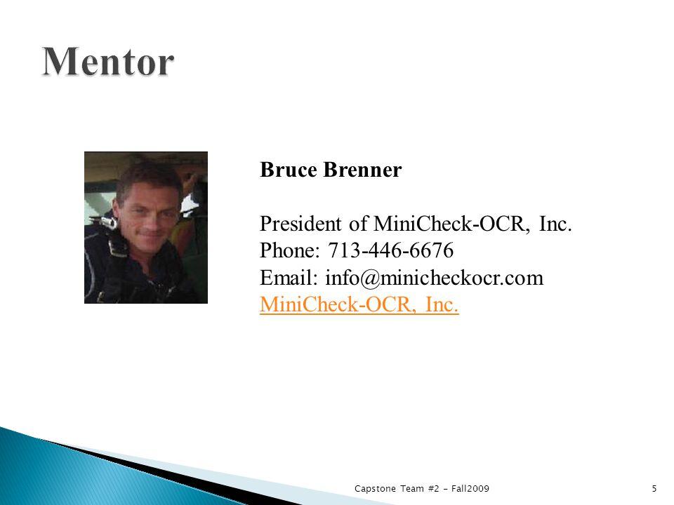 Bruce Brenner President of MiniCheck-OCR, Inc.