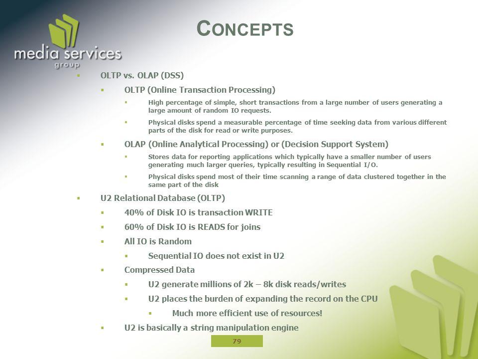 C ONCEPTS  OLTP vs.