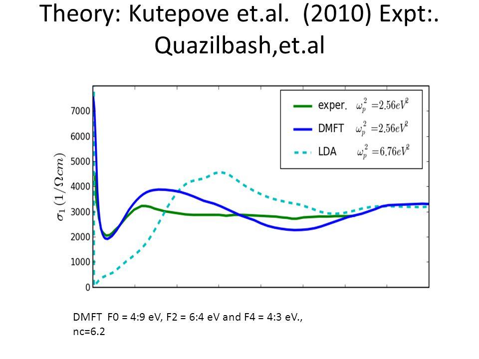 Theory: Kutepove et.al. (2010) Expt:.