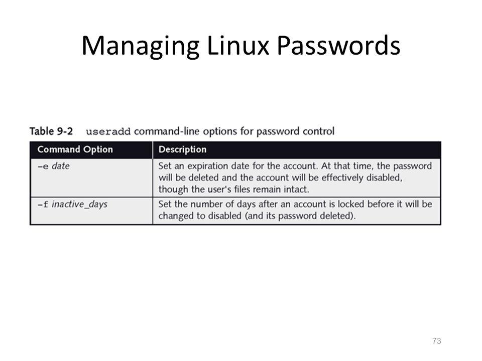 72 Managing Linux Passwords