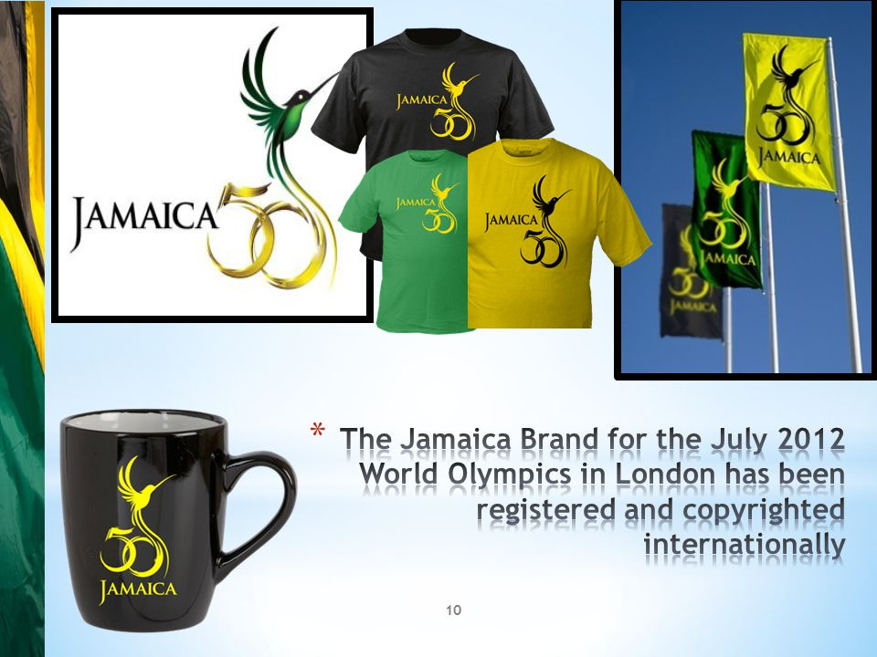9 * Securing the International Market through Branding has proved relatively easy for Jamaica in that it's music forms lead by Bob Marley and Reggae have been recognised around the world * The performances of the Jamaican athletes, lead by Usain Bolt, in international sport are legendary.