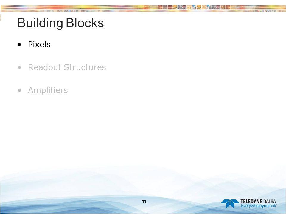11 Building Blocks Pixels Readout Structures Amplifiers