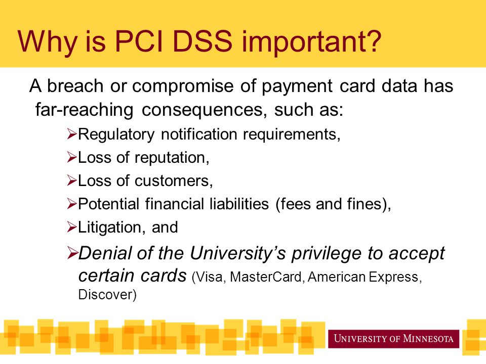 Why is PCI DSS important.