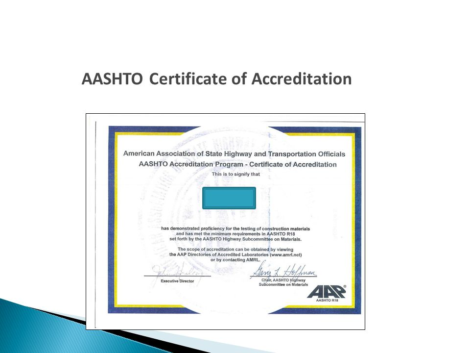 Require independent lab accreditation  Hire an outside qualified consultant to perform IA services ◦ Cannot perform acceptance testing  Use a qualified employee from within the local agency to perform IA services  If using CT test methods, Local Assistance IA personnel is available