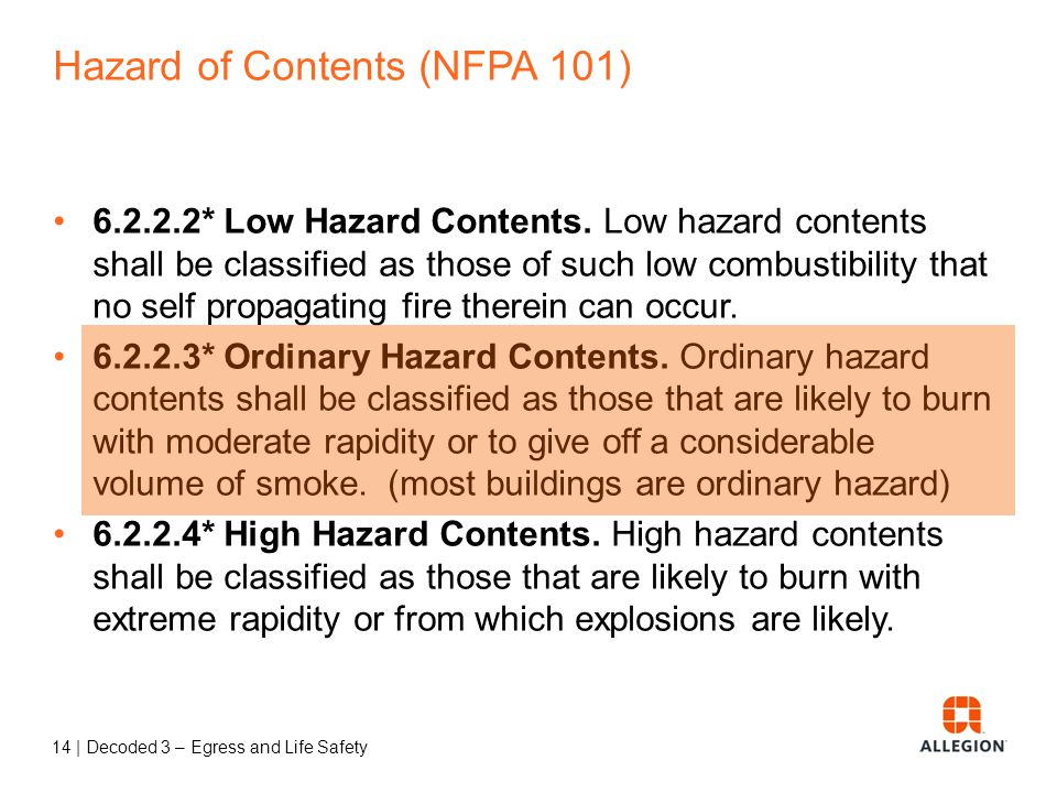 13 | Decoded 3 – Egress and Life Safety Multiple Occupancies (NFPA 101) 6.1.14.2.1 Multiple Occupancy.