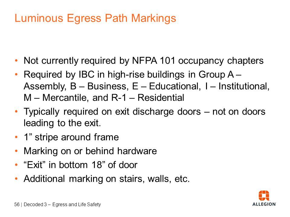 Luminous Egress Path Markings