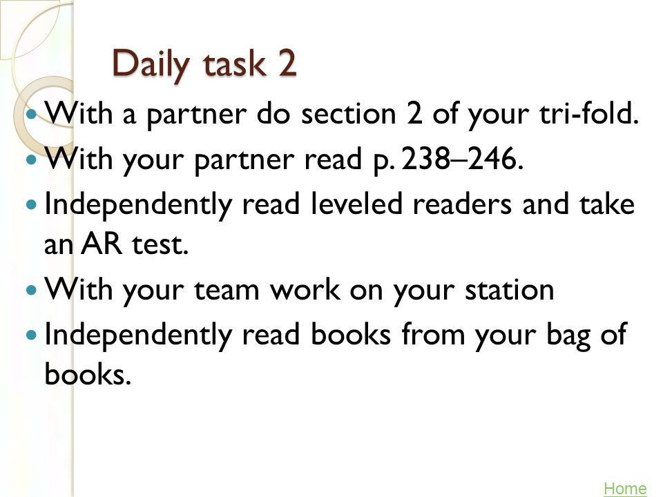 Daily task 1 1. With your partner read p. 228–237.