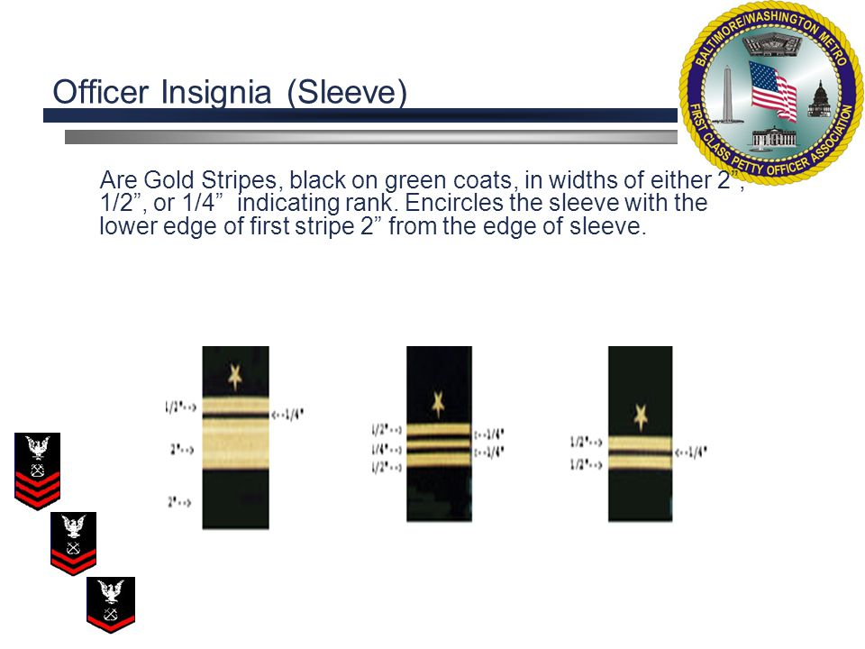 Identify the correct sleeve insignia for a LCDR. A. C. B. D.