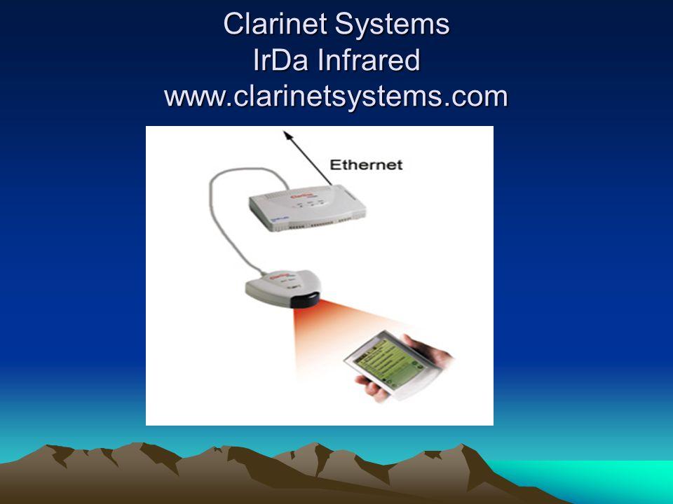 Clarinet Systems IrDa Infrared www.clarinetsystems.com