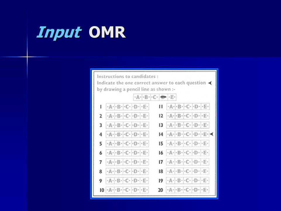 Input OMR