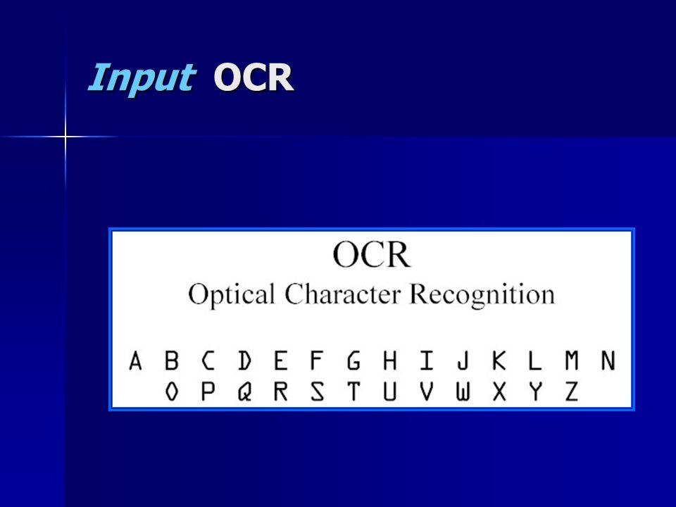 Input OCR