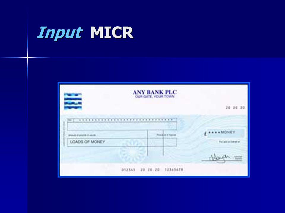 Input MICR