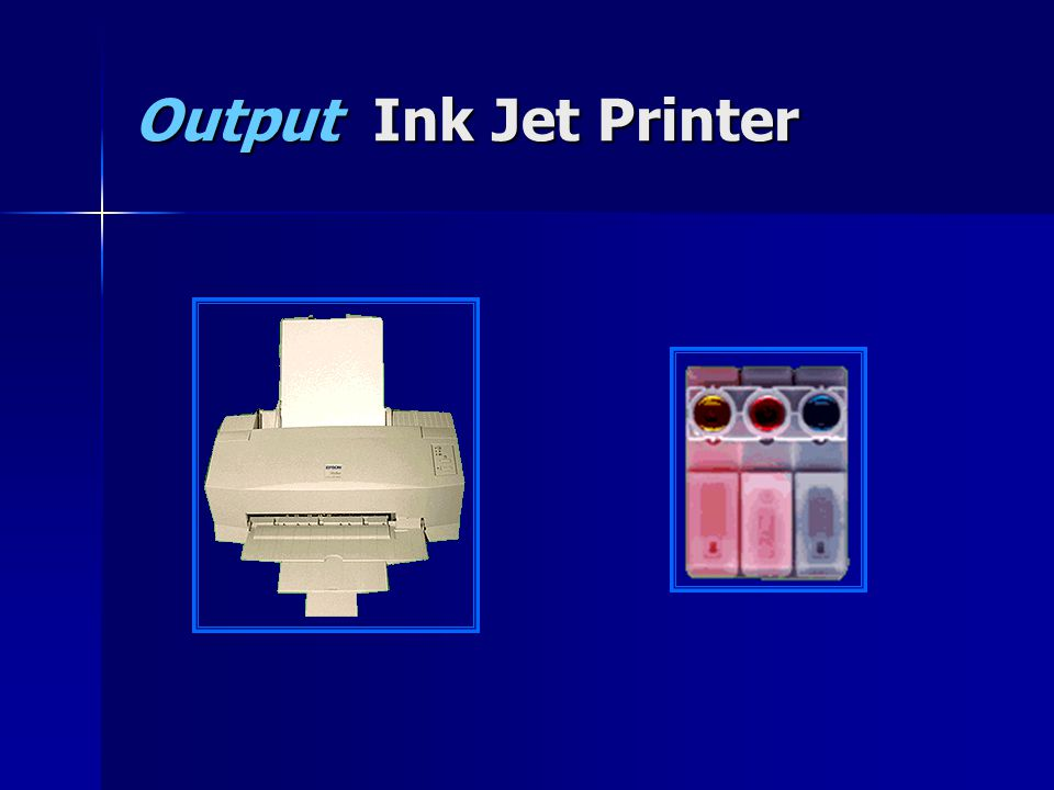 Output Ink Jet Printer
