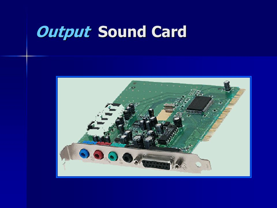 Output Sound Card