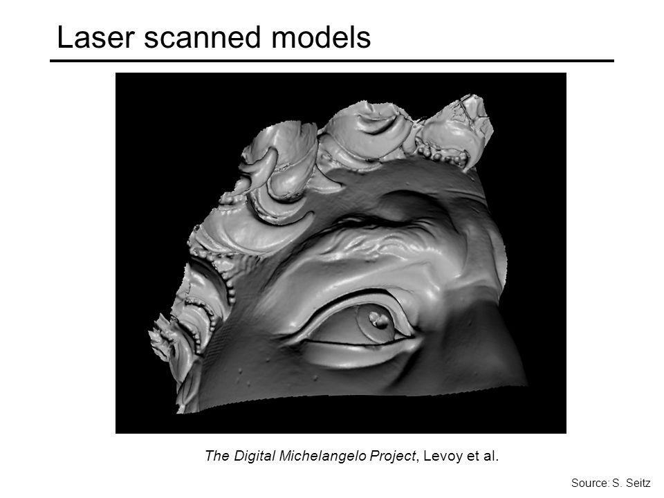 Laser scanned models The Digital Michelangelo Project, Levoy et al. Source: S. Seitz