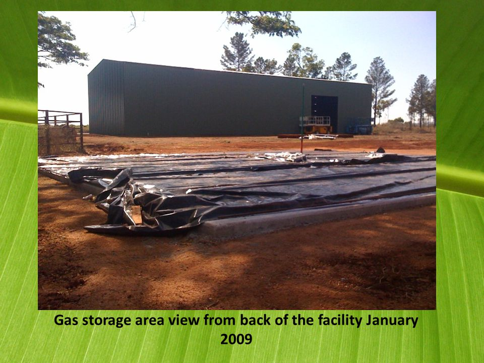 Gas storage area view from back of the facility January 2009