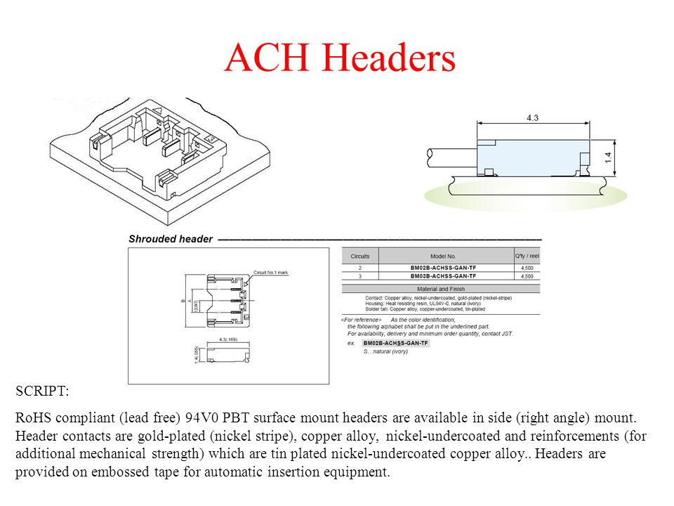 ACH Connectors crimp style wire-to-wire connectors SCRIPT: The ACH wire-to-wire connector is currently available in a 2 circuit configuration.