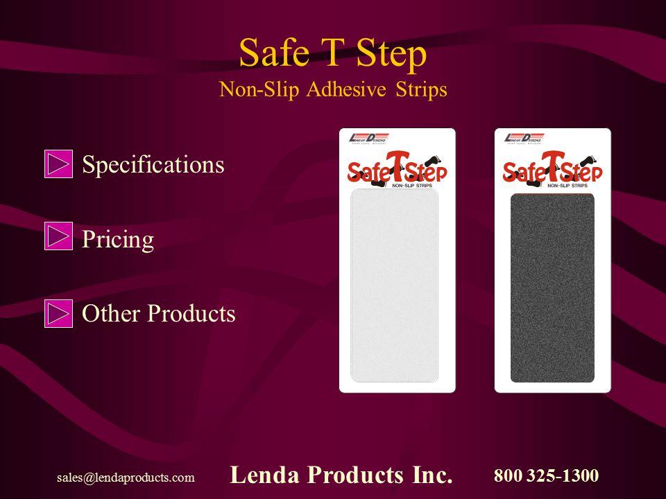 800 325-1300 sales@lendaproducts.com Lenda Products Inc.