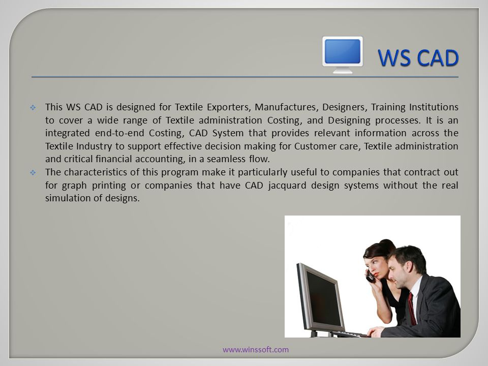 The User Admin Module of WS CAD provides the rights to Administrator for create and maintain the login details like User Creation, User Rights and Change password.