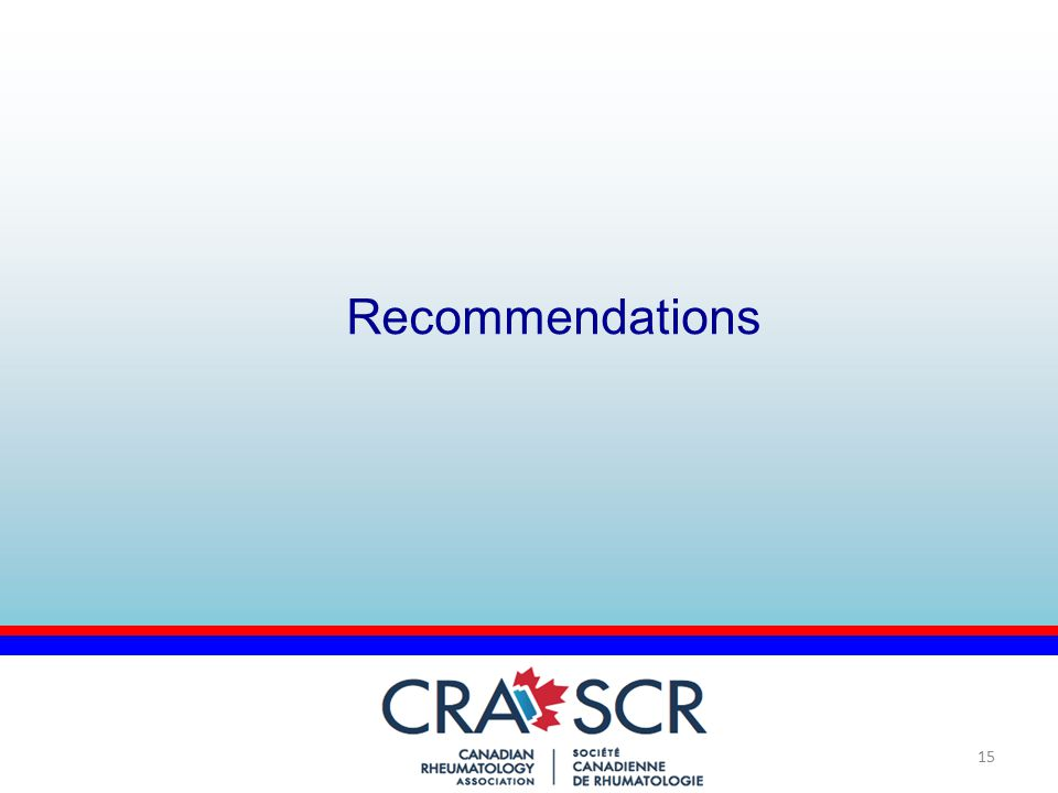 15 Recommendations
