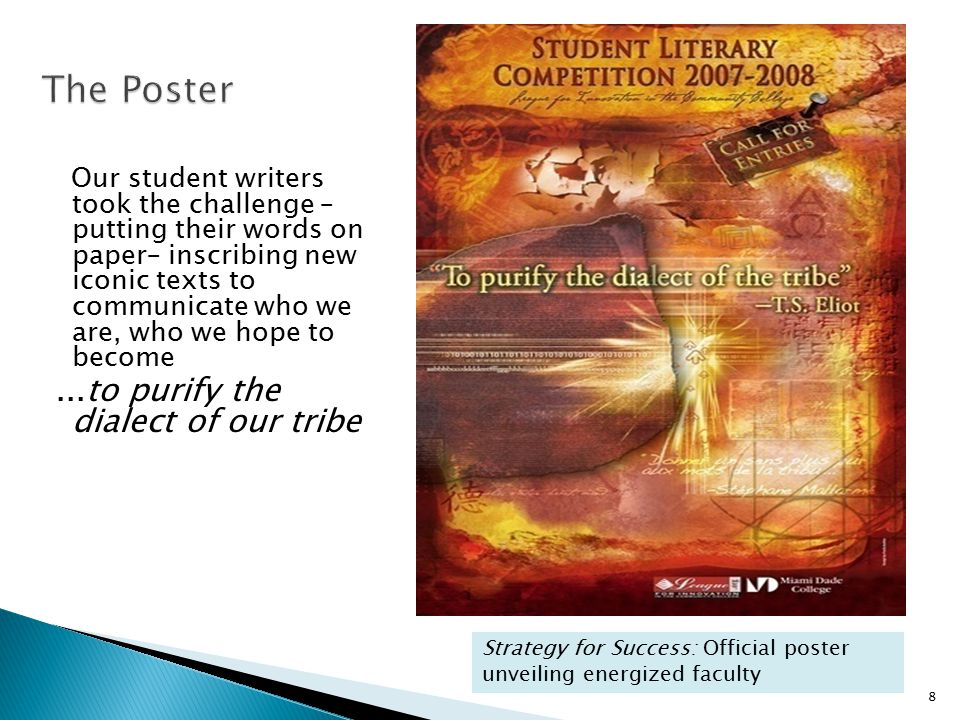 Our student writers took the challenge – putting their words on paper– inscribing new iconic texts to communicate who we are, who we hope to become...