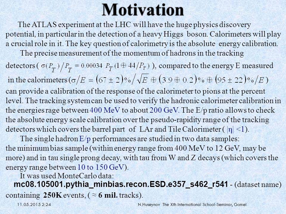 25.07.2009N.Huseynov The Xth International School-Seminar, Gomel Why should we measure minimum bias at ATLAS.