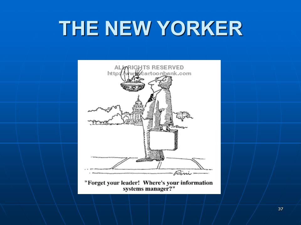 37 THE NEW YORKER