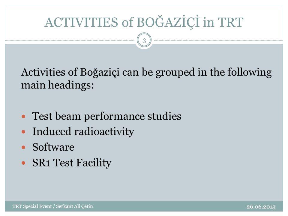 ACTIVITIES of BOĞAZİÇİ in TRT Test Beam Performance Studies /1999-2000 26.06.2013 TRT Special Event / Serkant Ali Çetin 4 In 1999, Engin Arık with M.Sc.