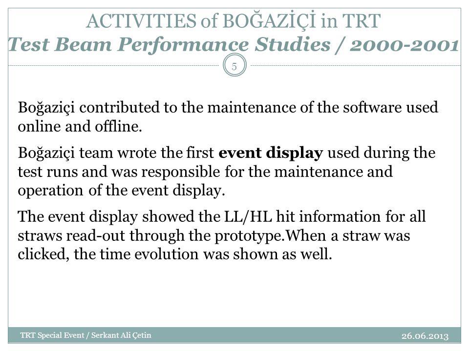 ACTIVITIES of BOĞAZİÇİ in TRT Test Beam Performance Studies / 2000-2001 26.06.2013 TRT Special Event / Serkant Ali Çetin 6 ## COMMAND FOR HELP ## proc god {} { tk_messageBox -message God help you .