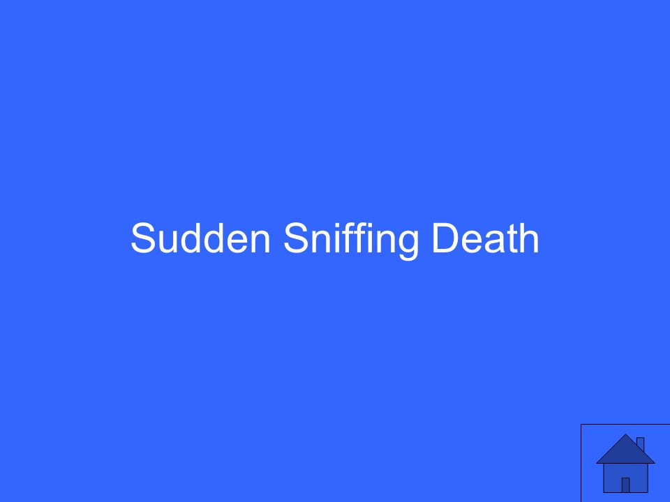 Sudden Sniffing Death