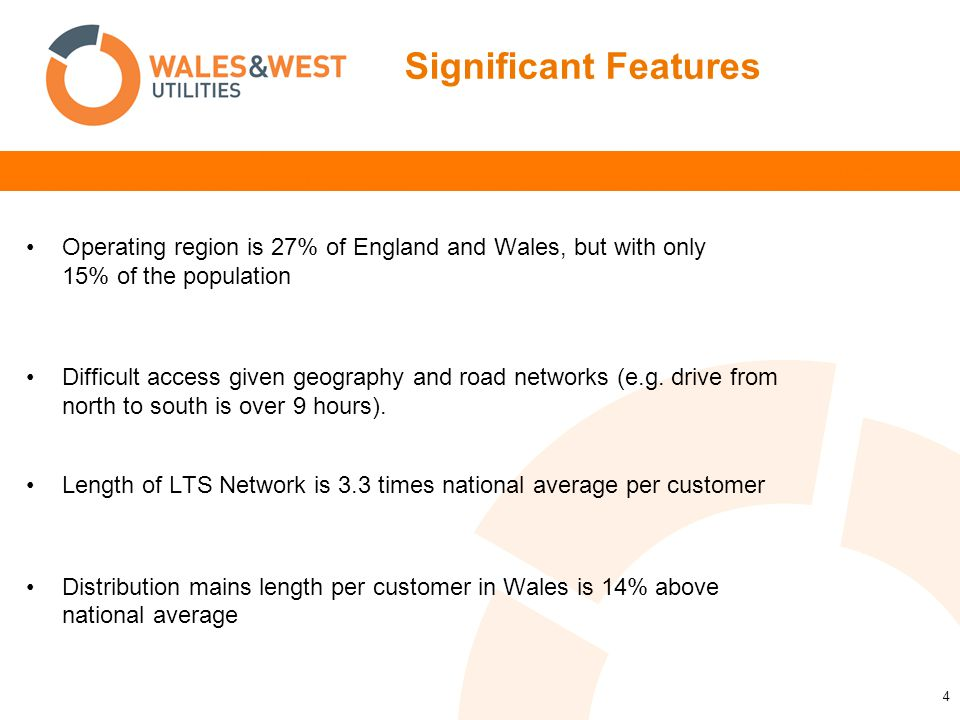 4 Operating region is 27% of England and Wales, but with only 15% of the population Difficult access given geography and road networks (e.g. drive fro