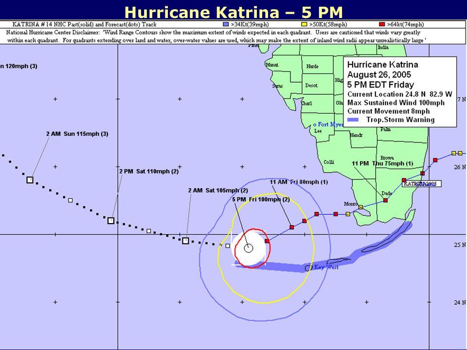 Hurricane Katrina – 5 PM