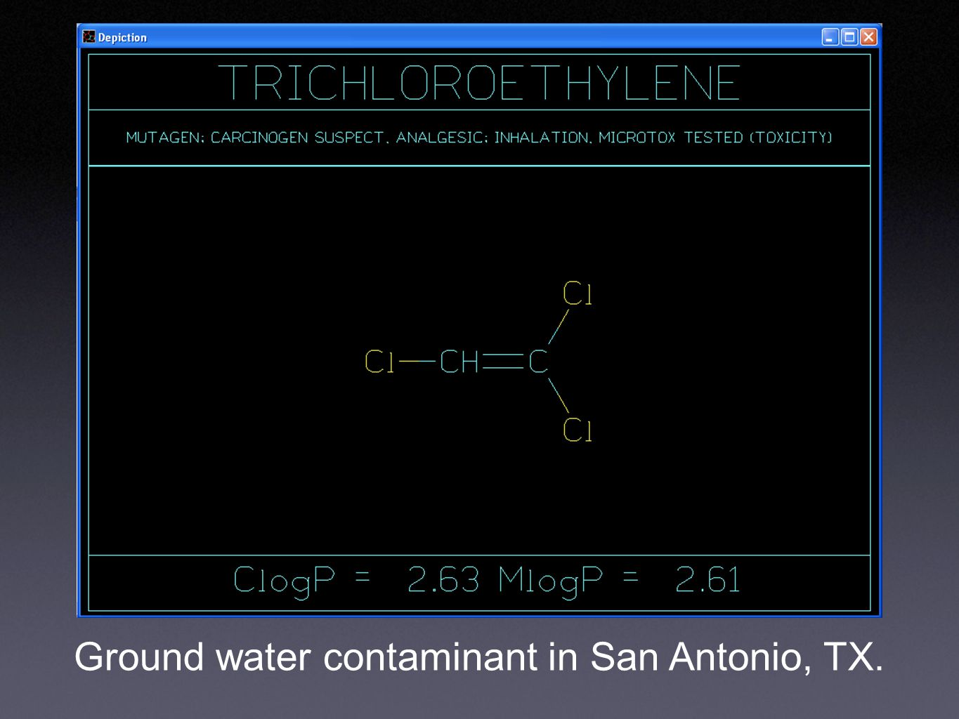 Ground water contaminant in San Antonio, TX.