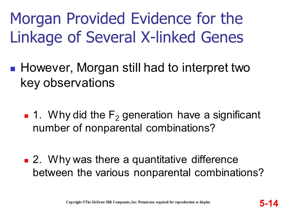 However, Morgan still had to interpret two key observations 1.