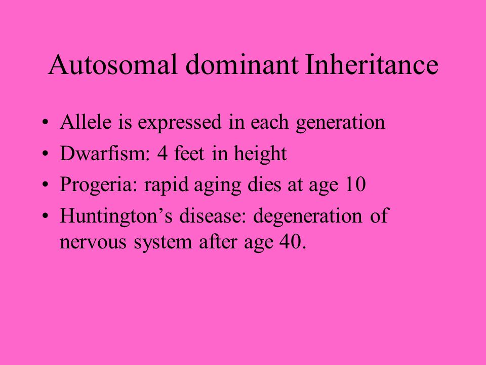 Autosomal Recessive Both parents must be a carrier only homozygous children are affected 3:1 ratio of normal to affected children Phenylketonuria: men