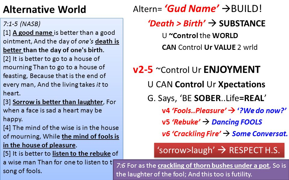 Alternative World Altern= 'Gud Name'  BUILD.