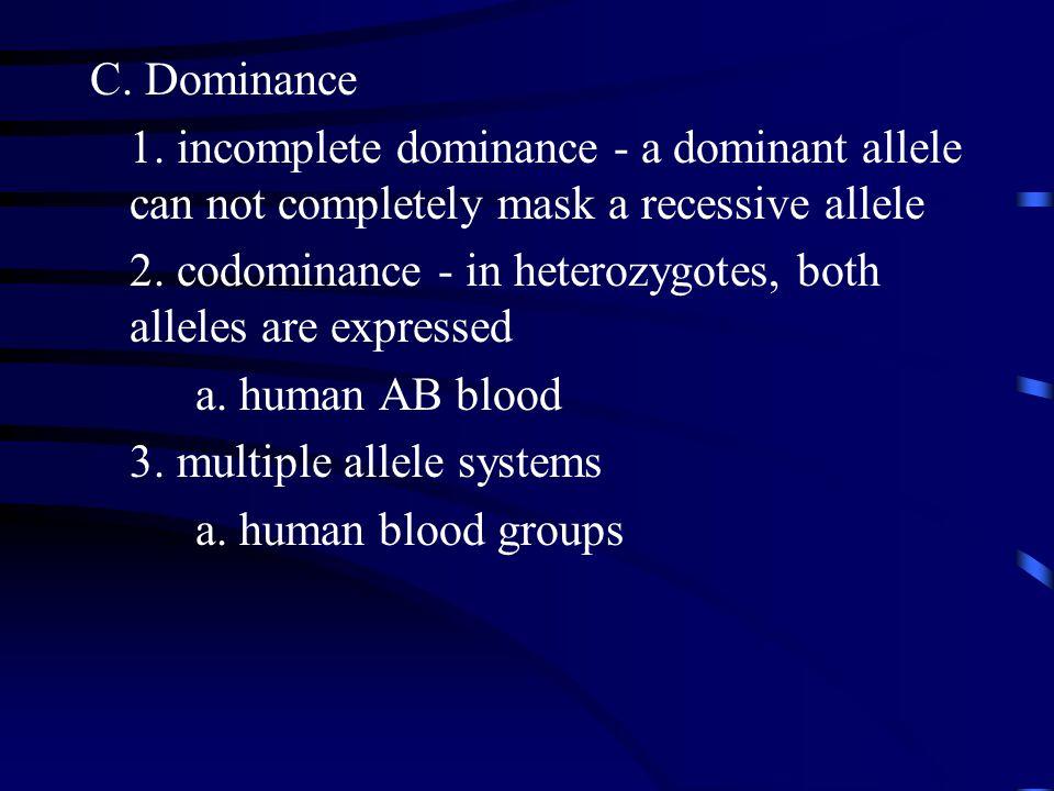 C. Dominance 1.