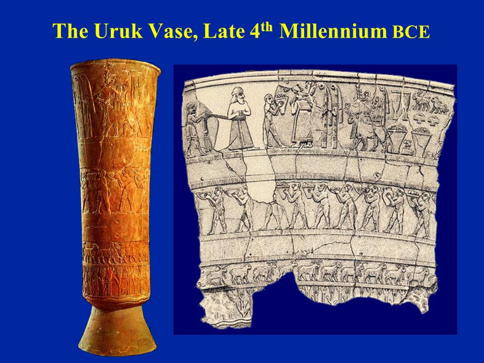 The Uruk Vase, Late 4 th Millennium BCE