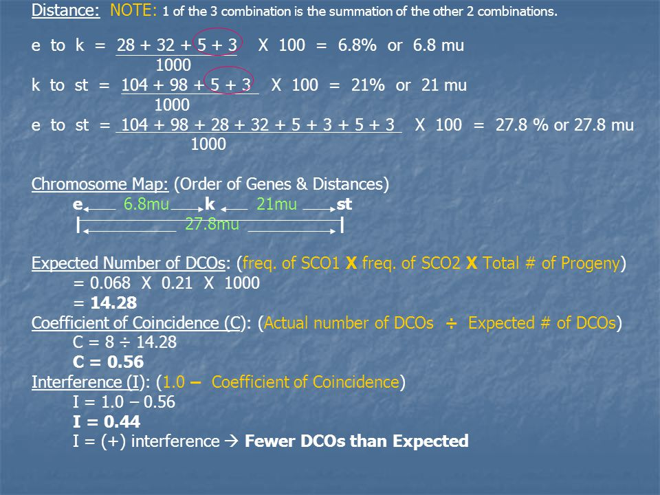 Distance: NOTE: 1 of the 3 combination is the summation of the other 2 combinations.