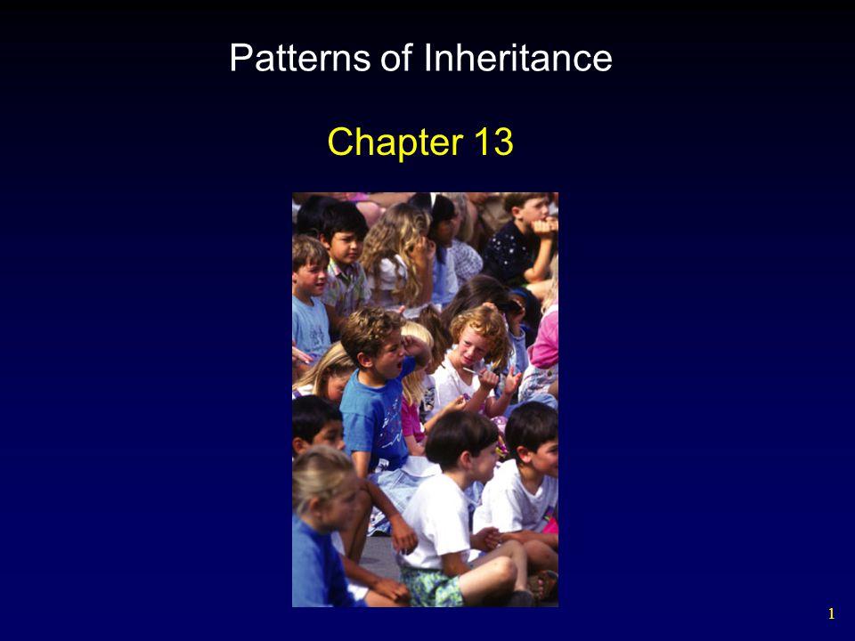 1 Patterns of Inheritance Chapter 13