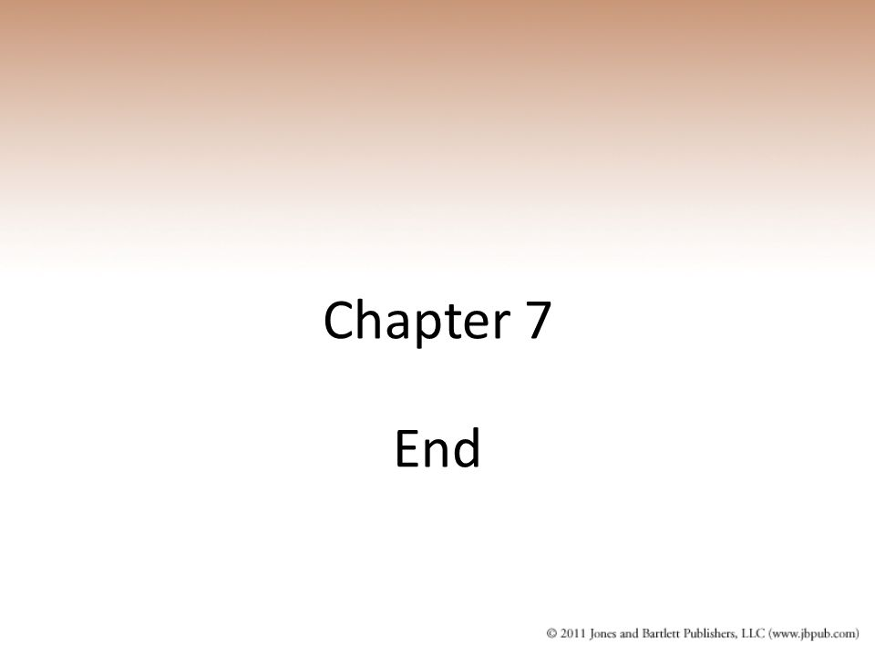Chapter 7 End