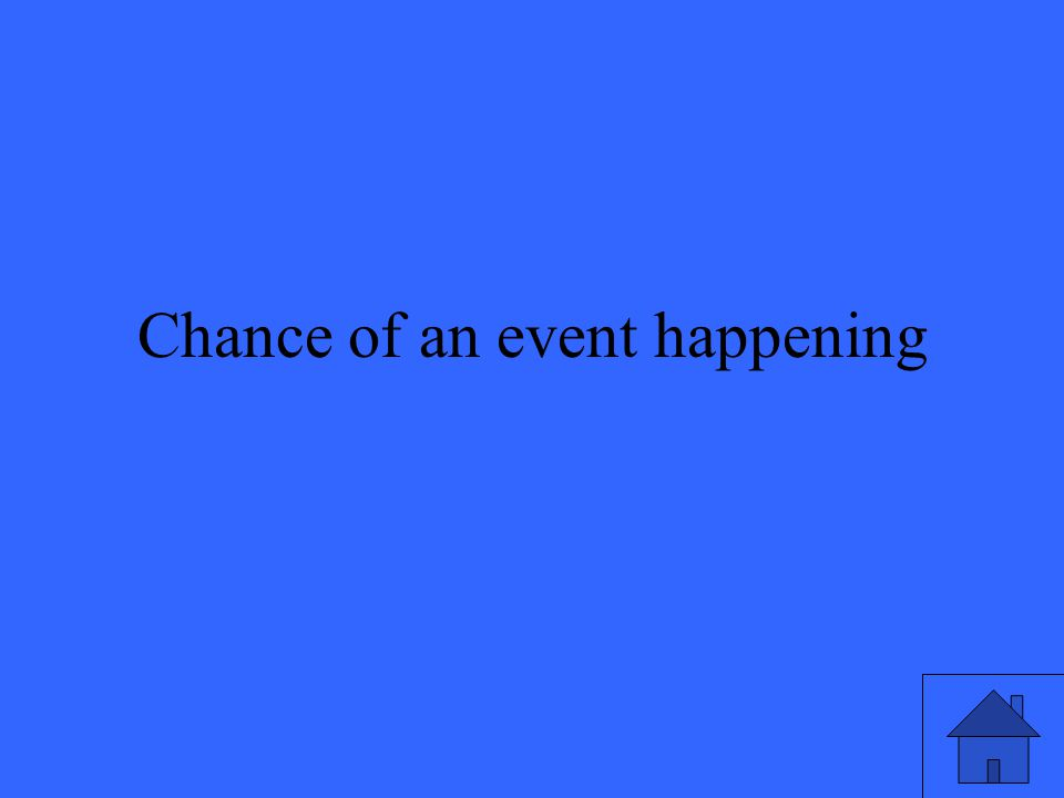Chance of an event happening